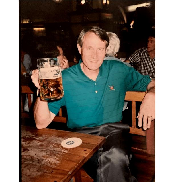 PM half full beer