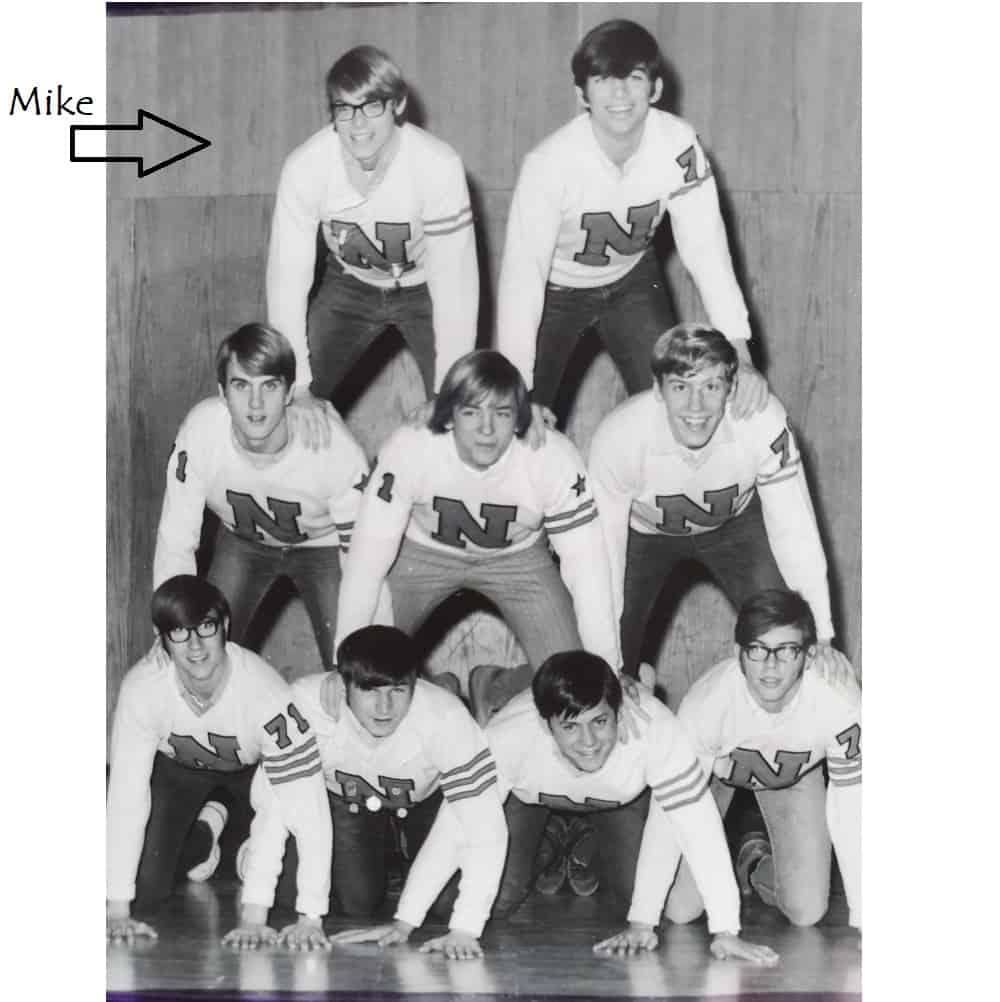 Cheerleader Mike (top left)