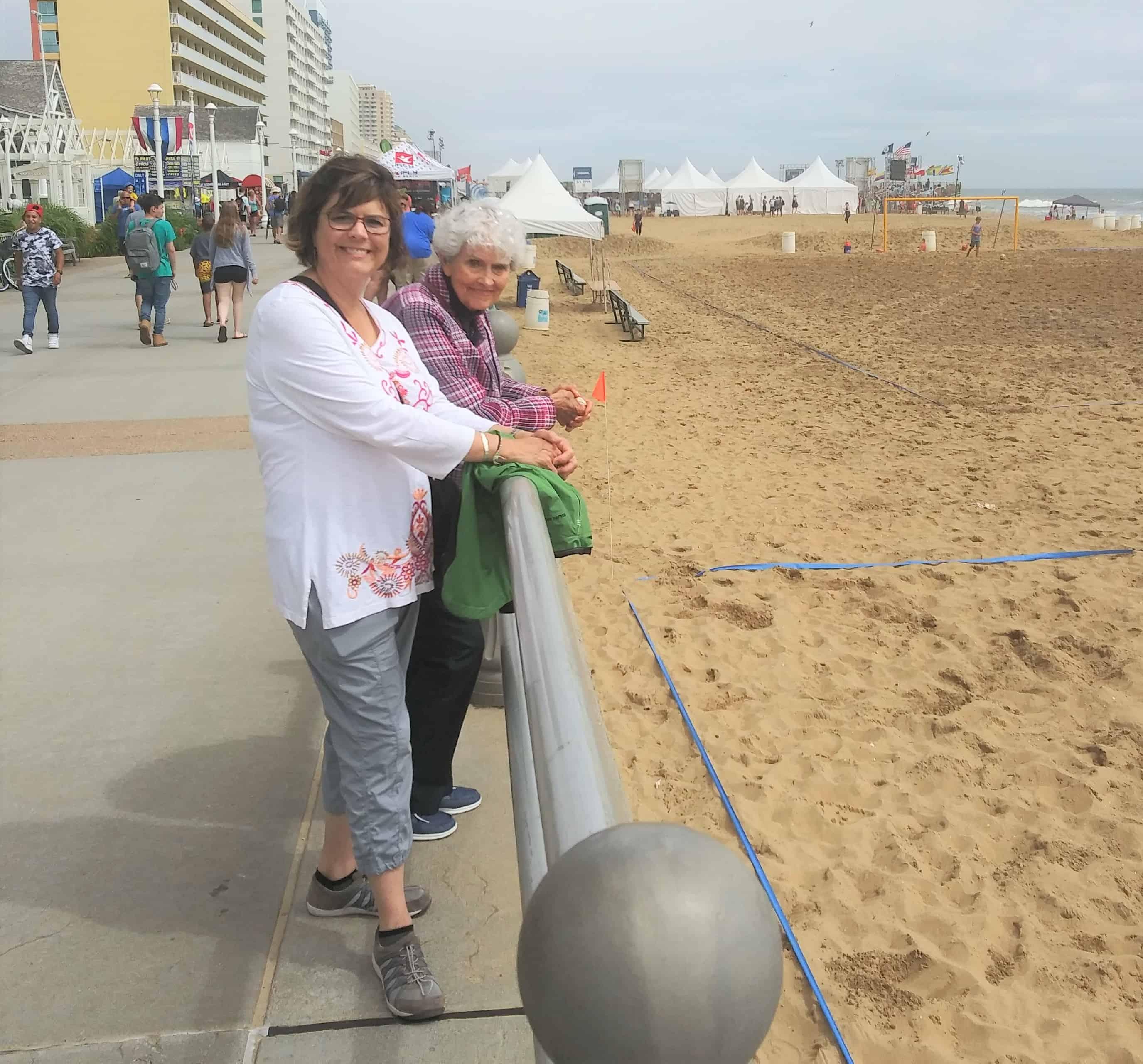 Mom Bren Beach VA