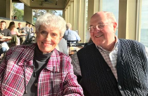 Mom and Dad Oregon Beach